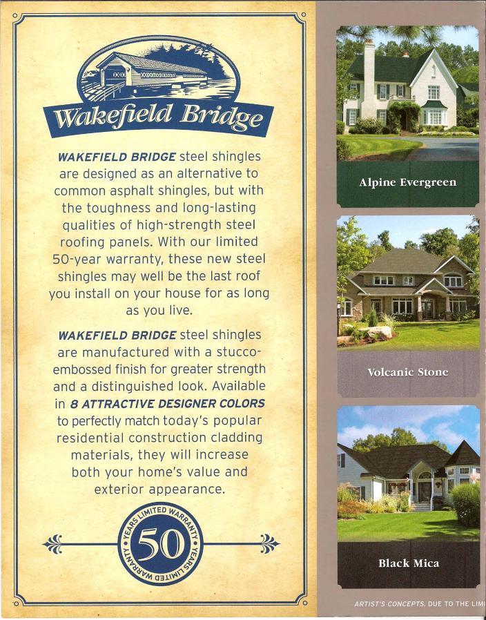 Wakefield Bridge Steel Shingles Directmetalroofs